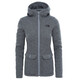 The North Face Crescent Fleece Parka Women TNF Medium Grey Heather/TNF Black